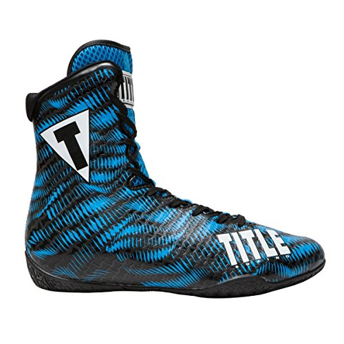 TITLE Predator Boxing Shoes (10, Blue/Black) by Title Boxing