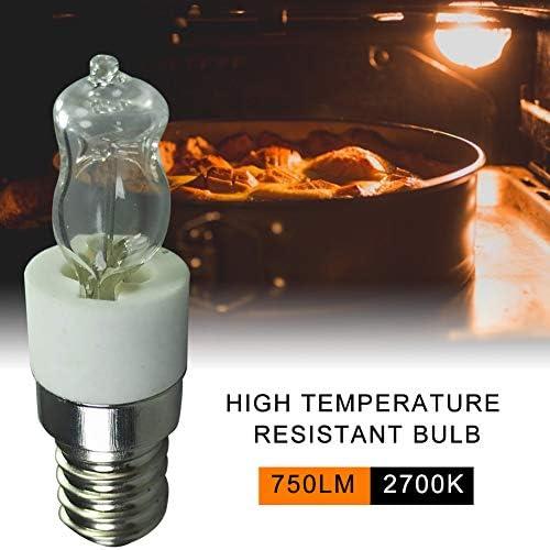 Molare Ampoule De Four 50W 220240V E14 Lampe Halog/ène S/ûre R/ésistante Aux Hautes Temp/ératures Ampoule /À MicroOndes Ampoule /À MicroOndes Jusqu/à 500 Degr/és Rational