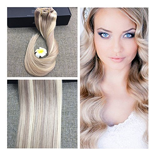 Fshine 22 9 pieces color 18 and 613 blonde highlighed straight fshine 22 9 pieces color 18 and 613 blonde highlighed straight hair clip pmusecretfo Choice Image