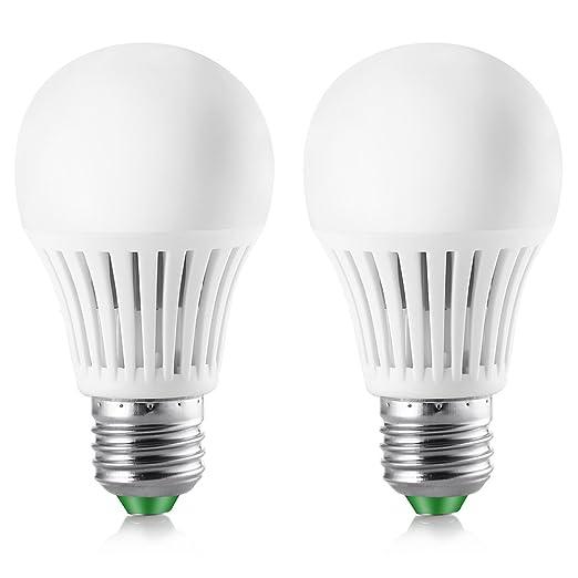 Elrigs Bombilla LED con sensor de movimiento 5W (equivalente a 40W), casquillo E27