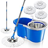 Best Spin Mops - Deluxe 360 Spin Mop Upgraded Stainless Steel Bucket Review