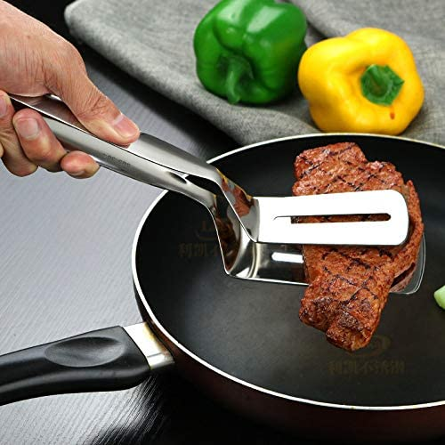 1pc Cocina Pinzas De Cocina Utensilios De Cocina De Acero Inoxidable Barbacoa Barbacoa Clip Pinzas Fritos Pala Pan Carne Vegetal Abrazadera