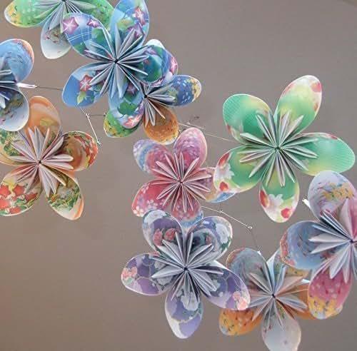 amazoncom floral fantasy origami flower mobile handmade