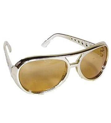Amazon.com: 12 Oro Rock Star Costume Aviator anteojos de sol ...