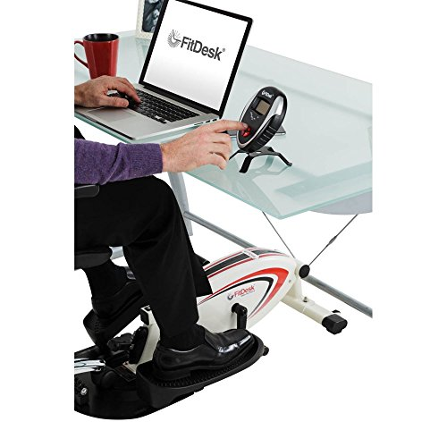 Top Rated Best Selling Highest Rated Portable Compact Under Desk Elliptical Trainer- Perfect For Home Office Travel- Burn Fat And Calories While Standing Sitting Reading Watching TV- Non Slip Pedals