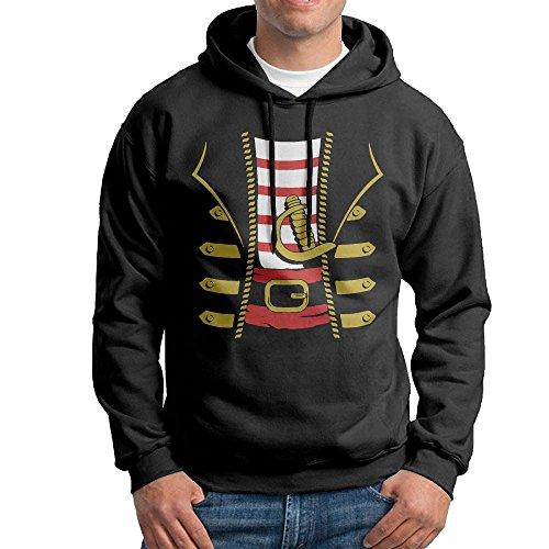 [Halloween Pirate Buccaneer Costume Outfit Suit Hoodie Sweatshirts Mens Fleece Sweater Size XXL] (Funniest Halloween Costumes College)