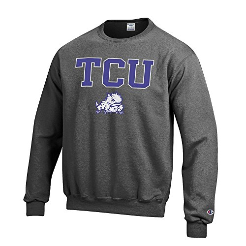 - Elite Fan Shop TCU Horned Frogs Crewneck Sweatshirt Varsity Charcoal - L
