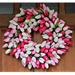 The-Wreath-Depot-Pink-and-White-Tulip-Front-Door-Wreath-19-Inch-Stunning-Silk-Front-Door-Wreath-Valentines-Day-Wreath-Extremely-Full-Design-Beautiful-White-Gift-Box-Included