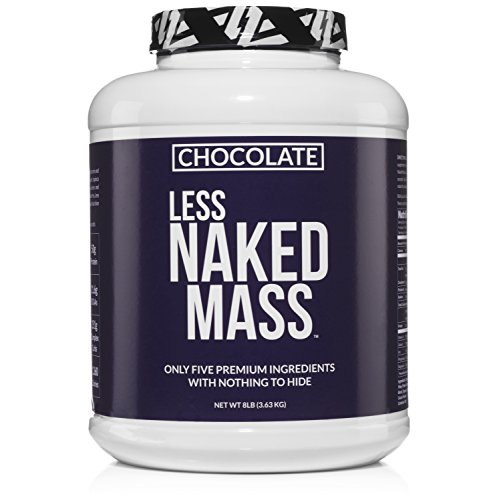 CHOCOLATE LESS NAKED MASS - All Natural Weight Gainer Protein Powder - 8lb Bulk, GMO Free, Gluten Free & Soy Free. No Artificial Ingredients - 1,360 Calories - 11 (Gainer Whey Protein)