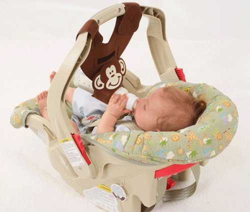 Brown Baby Sling - Brown Monkey Baby Bottle Holder for Hands Free Bottle Feeding by Bebe Bottle Sling, LLC