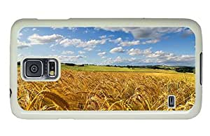 Hipster Samsung Galaxy S5 Case fun cases cornfield summer PC White for Samsung S5