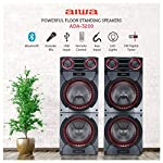 Aiwa Powerful Tower Party Speakers ADA3200 160Watts (RMS) with Bluetooth and Wireless Karaoke Mic (Black)