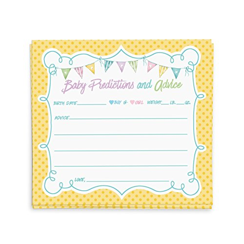 Baby Shower Advice Cards, Advice for the New Mommy   Baby Shower Games, Favors, & Ideas   40 (Simple Baby Shower Ideas)