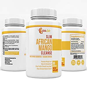 African Mango Cleanse with Raspberry Ketone for Weight Loss and Detoxing - Complete 2-in-1 Formula With Cascara Sagrada and Many Others - 90 Capsules