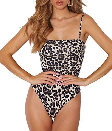 Skin Jumpsuit - FANVONNE Women's Adjustable Strap Pullover Snakeskin Cami Shirt Bodysuit (Medium, Multicolred-3)