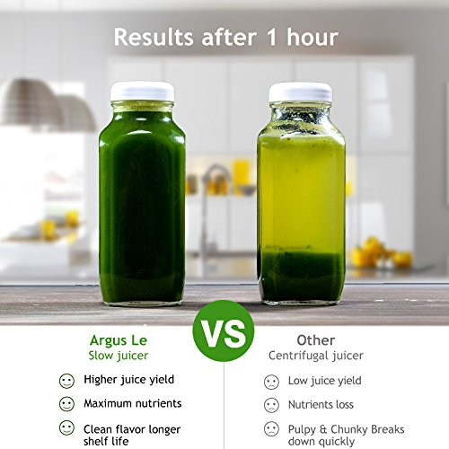 Argus Le Slow Masticating Juicer, High Juice Yield with Drier Pulp, Easy Cleaning and Operating Cold Press Juicer, Fruit and Vegetable Juice Extractor by Argus Le (Image #6)