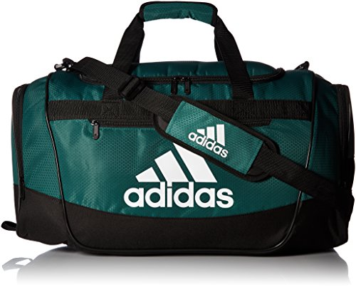 adidas Women's Defender III small duffel Bag, Green/Black/White, One Size