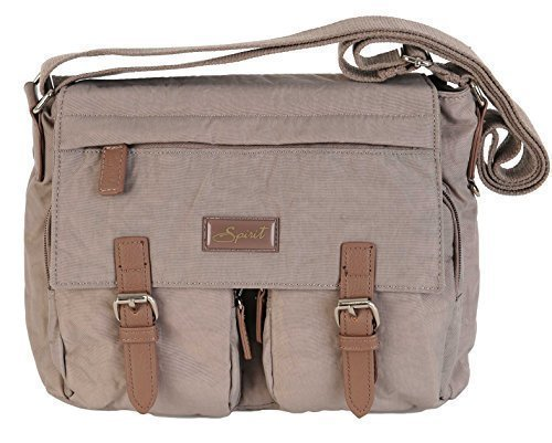 BAG HANDBAG FAB STYLE SATCHEL LIGHTWEIGHT CROSSBODY Spirit SHOULDER 9886 COLOURS Mink wq1XB4AU