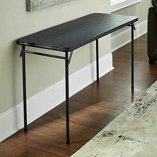 COSCO 20' x 48' Vinyl Top Folding Table, Black, 1-pack