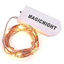 Magicnight LED Moon Lights 20 Micro Starry LEDs on Extra Thin Copper Wire,7 Ft (2M) for DIY Wedding Centerpiece or Table Decorations (Warm White),Set of 2