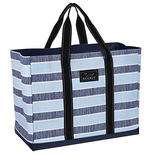 - SCOUT Original Deano Large Tote Bag, For The Beach, Pool or Travel, Folds Flat, Water Resistant, Sturdy Base, Interior Key Ring, Deep End