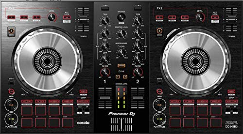 Pioneer DJ DDJ SB3 2 Channel Serato DJ Controller with Onboard Audio Interface, Built-in Filtering and Serato DJ Lite Software BUNDLE with 2 x Pig Hog MIDI Cable 10ft and Zorro Sounds Polishing Cloth from Pioneer DJ