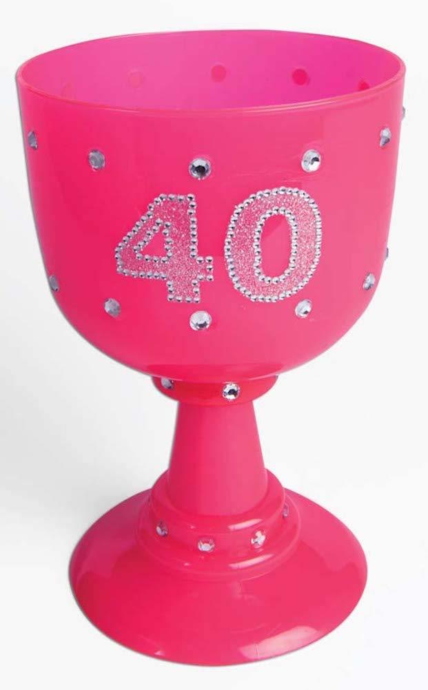 Birthday Copa de Cristal con diseño de Corona de plástico ...