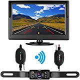 DohonesBest Wireless Backup Camera System and 5 TFT LCD Rear View Monitor for Car MPV SUV RV IP68 Waterproof 135°viewing angle Night Vision Reverse camera Guide Lines