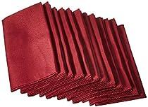 LinenTablecloth 17-Inch Polyester Napkins (1-Dozen) Burgundy