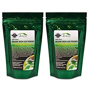 Neem Leaf Powder - Organic, 100% Pure All-Natural Premium Quality Product - 1LB 2-PACK