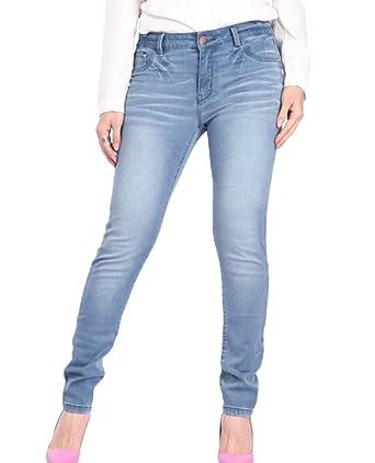 04d01d915c91a8 YuanDian Damen Herbst Große Größen Jeans Hoher Bund Skinny Stretch Ankle  Slim Fit Straight Leg Enge Denim Hose: Amazon.de: Bekleidung