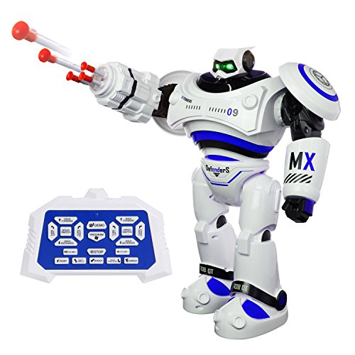 ANTAPRCIS Robot Toy for Kids-RC Programming Robocop, Glides Walks Singing Dance Fighting Rechargeable X-Man Robotic with LED Flashing Eyes, Creative Intelligent Fun Toy Companion Gift, Blue