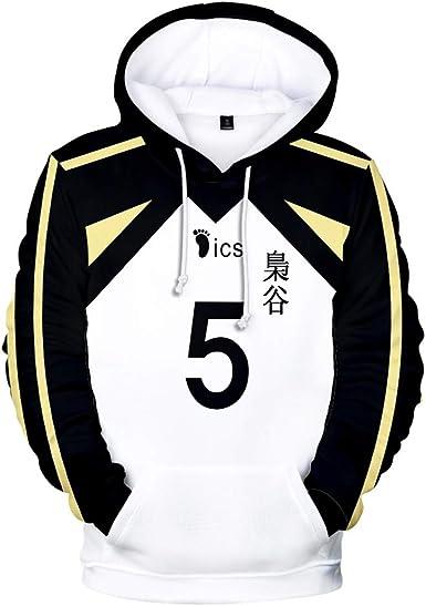 TISEAS Fukurodani Academy Hoodies and Volleyball Jersey Uniform for Teens/Mens/Womens