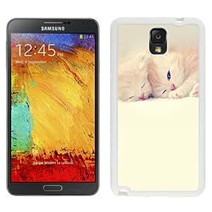 NEW Unique Custom Designed Samsung Galaxy Note 3 N900A N900V N900P N900T Phone Case With Sleeping Cute Kittens Lockscreen_White Phone Case