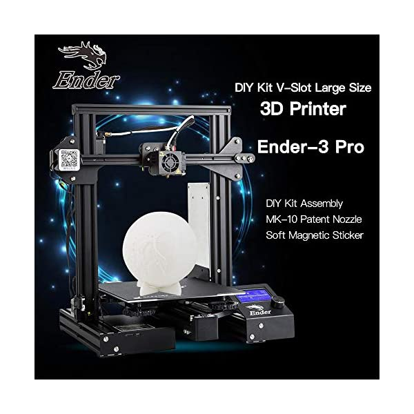Docooler Creality 3D Ender-3 Pro 3D Printer DIY Kit MK-10 Extruder with Resume Printing Function Heatbed Support 220 * 220 * 250mm Printing Size for Home & School Use