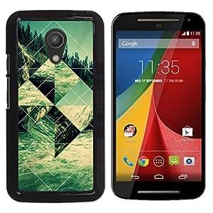 For Motorola MOTO G 2ND GEN II Case , Sacred Structure Shape Art - Diseño Patrón Teléfono Caso Cubierta Case Bumper Duro Protección Case Cover Funda