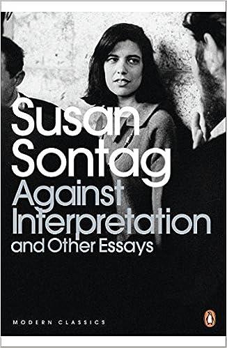 against interpretation susan sontag essay