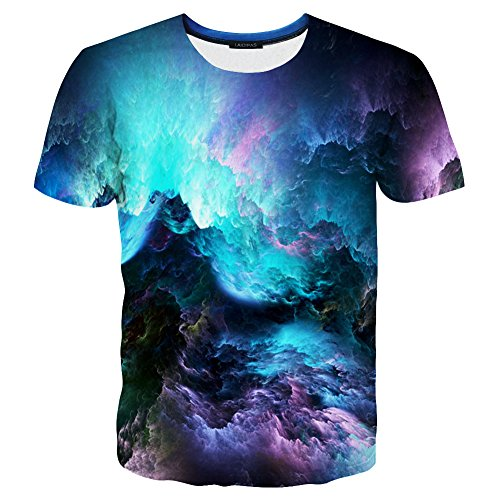 - Hgvoetty Unisex Space Shirts Funny 3D Printed T Shirts for Boys Girls S Blue