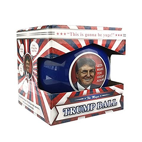 KickFire Classics Magic Trump Ball | Classic Magic 8 Ball Toy | Trump Novelty Merchandise | Political Gag (Jumbo Crystal Rings)
