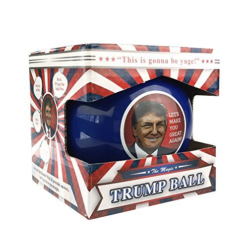 KickFire Classics Magic Trump Ball | Classic Magic 8 Ball Toy | Trump Novelty Merchandise | Political Gag Gifts