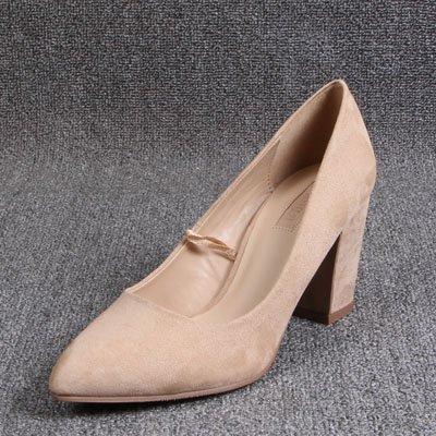 Tacchi Molla Alti Scarpe Professional beige Con Calzature GAOLIM Single Il Donna Irregolare Punta A qx8f0E