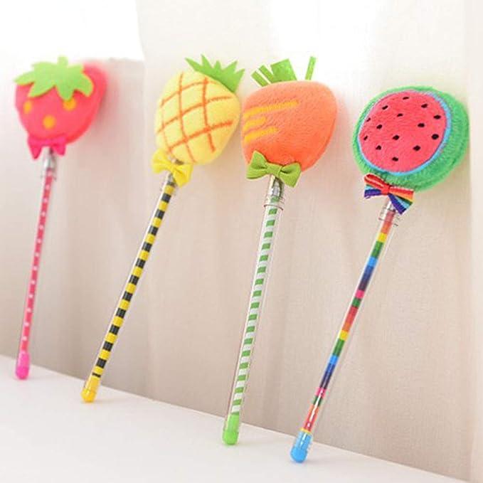 Amazon.com: Toyvian 6PCS Cute Plush Fruit Gel Pens Strawberry Pineapple Watermelon Writing Pens for School Stationery Office Supplies (Random Pattern): Toys ...