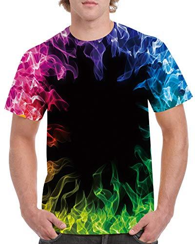 RAISEVERN Summer Ployester, Camiseta de Manga Corta, Camiseta Impresa para Hombres y Mujeres