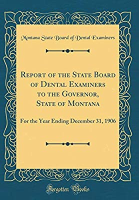 Report of the State Board of Dental Examiners to the
