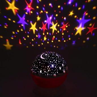 Proyector de estrellas Lámpara de proyección de luz romántica ...