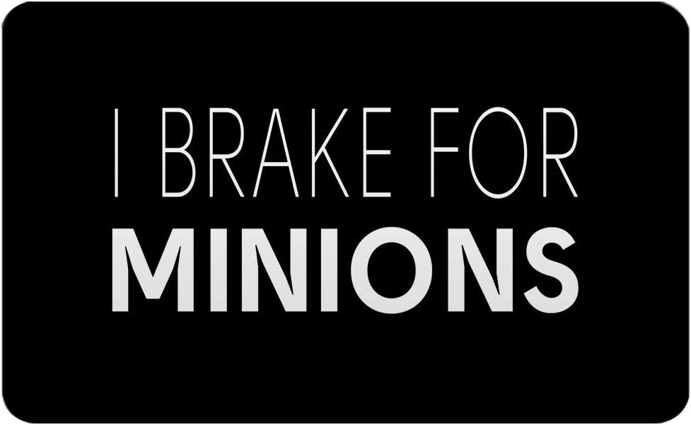 "Makoroni - I BRAKE FOR MINIONS Rectangle Magnet, 2""x3"" Refrigerator Magnet"
