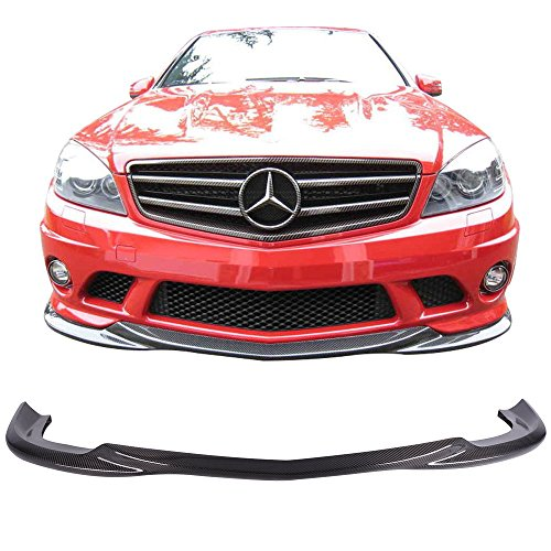 Amg C-class (Front Bumper Lip Fits 2008-2011 C Class W204 C63 Pre-LCI | AMG Godhand Style Carbon Fiber CF Front Lip Other Color Available By IKON MOTORSPORTS | 2009 2010)