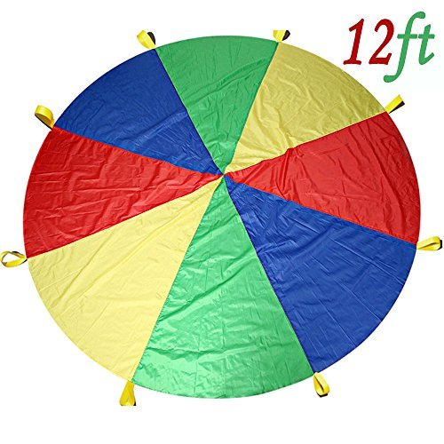 Paracaídas para niños 3,7m con 12asas, nb-magic, ideal para uso en interiores o exteriores. Paracaídas Play