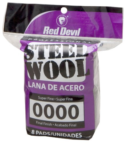 Red Devil 0320 Steel Wool  0000 Super Fine  8 Pads