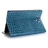 MeiLiio Galaxy Tab S4 10.5 Case - Crocodile Pattern PU Leather Folio Cover with Auto Sleep/Wake, Lightweight Smart Protector Case with Card Slots for Galaxy Tab S4 10.5 inch (SM-T830/T835) Blue